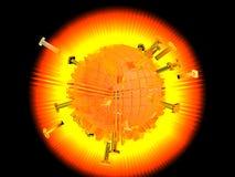 Schmelzende heiße Sonne Lizenzfreies Stockfoto