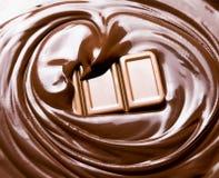 Schmelzende Schokolade/geschmolzene Schokolade stockbilder