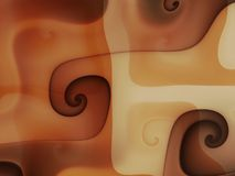 Schmelzende Strudel der Schokoladensahne Stockfotos