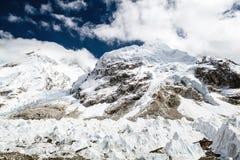 Schmelzender Gletscher in niedrigem Lager Everest Himalaja-Berge global Stockbild