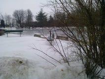 Schmelzender Schnee stockfotos