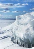 Schmelzender Schnee und Eis Stockbild