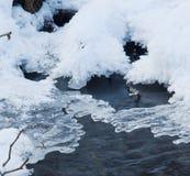 Schmelzendes Eis auf dem Fluss Stockfoto