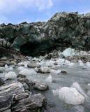 Schmelzendes Eis von einem Niedrigerhebung Gletscher Lizenzfreies Stockbild