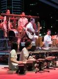 Schmelzverfahren Gamelan Orchester von Malaysia stockfoto