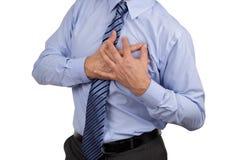 Schmerz in der Brust Lizenzfreies Stockfoto