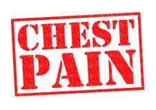 Schmerz in der Brust lizenzfreie abbildung