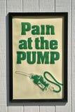 Schmerz an der Pumpe Stockfotos
