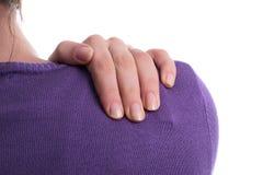 Schmerz in der Schulter Lizenzfreie Stockbilder