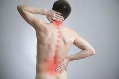Schmerz in einem Körper des Mannes Lizenzfreie Stockbilder