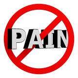 Schmerzen Sie nicht Stockfoto