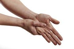 Schmerzliche Hand Stockfotos
