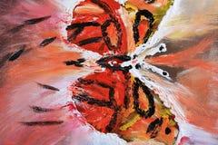 Schmetterling auf abstraktem Sandsturm Stockfotos