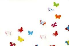 Schmetterling folgen Liebes-Anmerkungs-Brett Lizenzfreie Stockfotografie