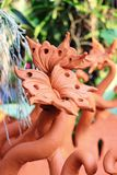 Schmetterling gebackener Lehm Stockfotografie