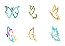 Schmetterling Logo Template Stockfoto