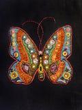 Schmetterling perlenbesetzt Lizenzfreie Stockfotos