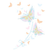 Schmetterling, Schmetterlinge, Zeichnung, Stockfoto