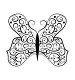 Schmetterling tatoo Zusammenfassung auf weißem Hintergrund Stockfotos