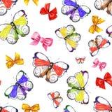 Schmetterling und Bogen, Aquarell Lizenzfreie Stockfotos
