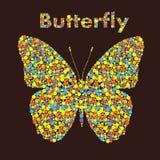 Schmetterling von den Punkten Kreative Auslegung Lizenzfreie Stockfotos