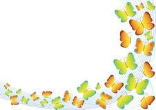 Schmetterlinge, die Hintergrund fliegen Lizenzfreies Stockbild