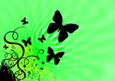 Schmetterlinge und Frühlingsgrün lizenzfreie stockbilder
