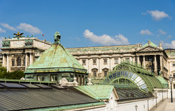 Schmetterlinghaus roof and Neue Burg facade Royalty Free Stock Photography