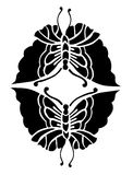 Schmetterlings-Gestaltungselement, Symbol der Liebe und Glück Lizenzfreies Stockbild