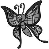 Schmetterlings-Karikaturillustration Stockfotografie