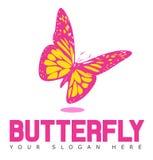 Schmetterlings-Logo Lizenzfreie Stockfotos