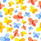 Schmetterlings-nahtlose Muster-Hintergrund-Vektor-Illustration Lizenzfreies Stockbild