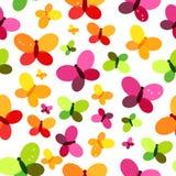 Schmetterlings-nahtlose Muster-Hintergrund-Vektor-Illustration Stockfotografie