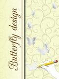 Schmetterlingsdesignkarte lizenzfreie abbildung
