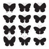 Schmetterlingsikonen vektor abbildung