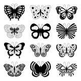 Schmetterlingsikonen lizenzfreie abbildung