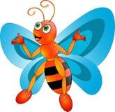 Schmetterlingskarikatur stock abbildung