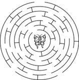 Schmetterlingslabyrinth, Labyrinth Stockbild