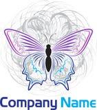 Schmetterlingslogo Stockfotos