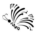 Schmetterlingslogo eine Markennameikone Auch im corel abgehobenen Betrag Stockfotografie