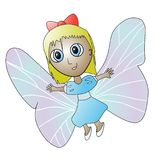 Schmetterlingsmädchen Lizenzfreie Stockbilder