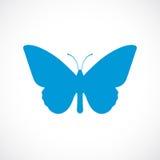 Schmetterlingsschattenbild-Vektorikone Stockbilder