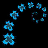 Schmetterlingsturbulenz - Vektorillustration vektor abbildung