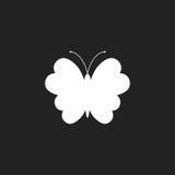 Schmetterlingsvektorikone Schattenbild einer Schmetterlingsillustration Lizenzfreie Stockfotos