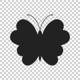 Schmetterlingsvektorikone Schattenbild einer Schmetterlingsillustration Lizenzfreies Stockbild