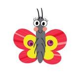 Schmetterlingszeichentrickfilm-figur Lizenzfreie Stockbilder