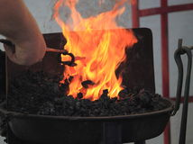 Schmied Heat Horseshoe lizenzfreies stockfoto