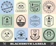 Schmied Label Set Stockbild