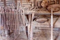 Schmiede-Workshop At Old-Goldmine stockfoto