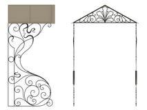 Schmiedeeisenüberdachung Stock Abbildung